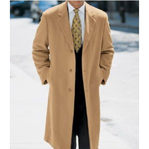 Executive Collection Traditional Fit Camel Hair Topcoat - Big & Tall CLEARANCE