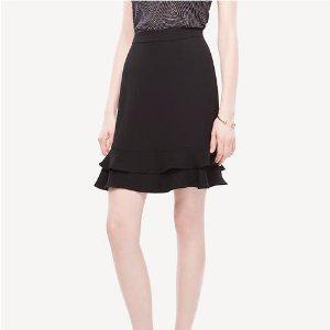 A-Line Flounce Skirt | Ann Taylor