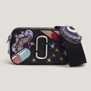$595Marc Jacobs Black Pill Snapshot Bag