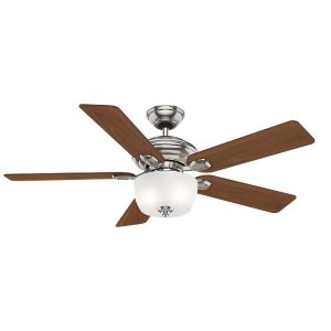 Casablanca Utopian 52 in. Indoor Brushed Nickel Ceiling Fan with 4-Speed Wall-Mount Control-54042 - The Home Depot