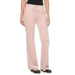 Women's Juicy Couture Solid Bootcut Velour Pants