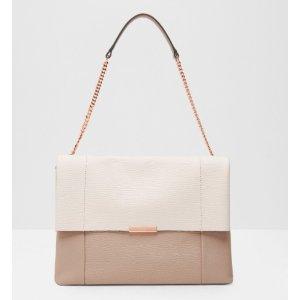 PHELLIA Textured leather shoulder bag