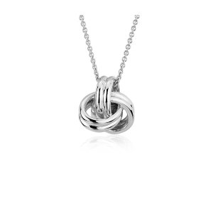 Grande Luxe Love Knot Pendant in Sterling Silver | Blue Nile