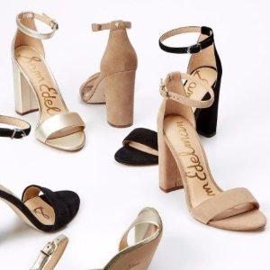 低至5折 入显腿长的一字带舒适时尚:Sam Edelman女士一字带中跟鞋,绑带休闲鞋,凉鞋等