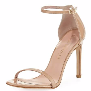 Nudistsong Patent Ankle-Wrap Sandal