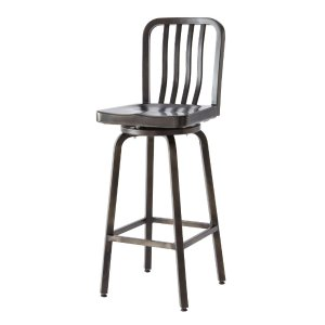 Home Decorators Collection Sandra 43 in. H Gun metal Bar Stool-2478700660 - The Home Depot