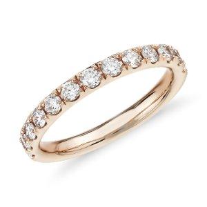 Riviera Pavé Diamond Ring in 14k Rose Gold (1/2 ct. tw.) | Blue Nile