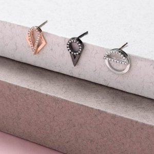 Rose Gold Plated Line Ear Jackets