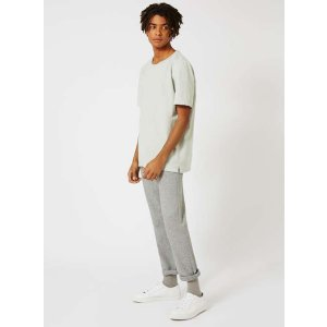 TOPMAN PREMIUM Grey Wool Blend Straight Leg Chinos - TOPMAN USA