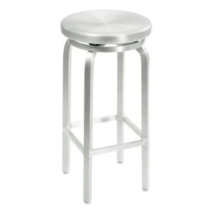 Home Decorators Collection Melanie 30 in. Brushed Aluminum Swivel Bar Stool-2446510440 - The Home Depot