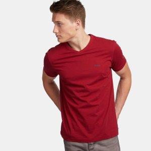 Boss Green 红色V领T恤