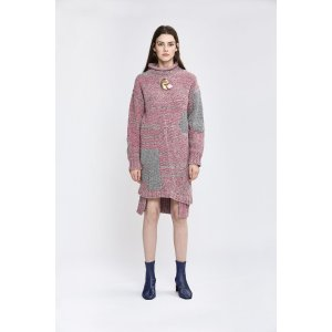 Plaited Tweed Dress