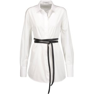Belted cotton-poplin shirt | Valentino | US | THE OUTNET