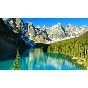 【8.9折优惠码CA1773】(5天)加西夏季风光之旅:落基山、班芙、露易斯湖、冰川雪