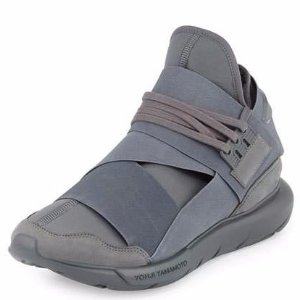 Y-3 Qasa Men's High-Top Trainer Sneaker, Gray