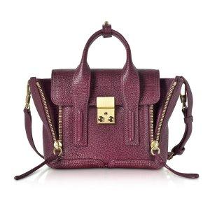 3.1 Phillip Lim Aubergine Pashli Mini Satchel Bag
