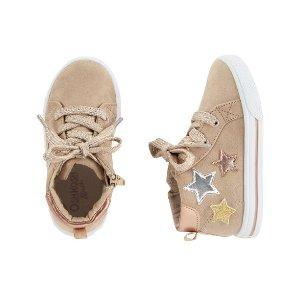 OshKosh Metallic Star High-Top Sneakers