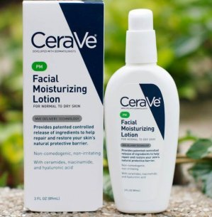 $7.86 CeraVe Moisturizing Facial Lotion PM, 3 Ounce