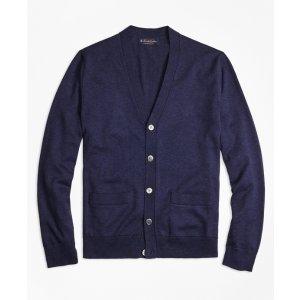 Supima® Cotton V-Neck Cardigan - Brooks Brothers
