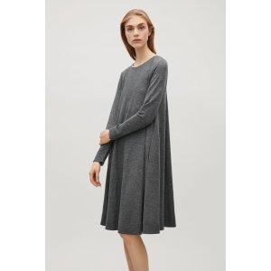 Long sleeve A-line dress - Dark Grey - Sale - COS US