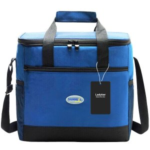 Cooler Bag, Ladyker Large Insulated Lunch Bag Lunch Tote Soft Cooler with Front Pocket