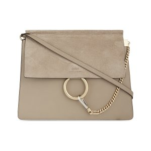 CHLOE - Faye leather & suede cross-body bag