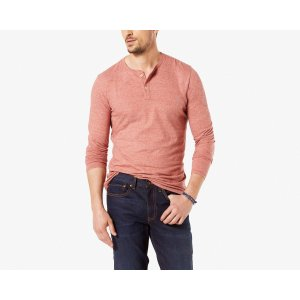 TRI BLEND HENLEY | WASHED RED | Dockers® United States (US)