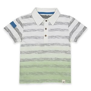Burt's Bees Baby® Dip-Dye Polo Shirt in Green - buybuy BABY