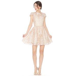 Gracia Full Cap Sleeve Dress | Alice + Olivia