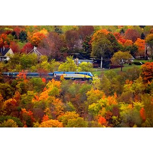 魁北克赏枫列车•深度体验6天:圣安妮峡谷+翠湖山+魁北克城
