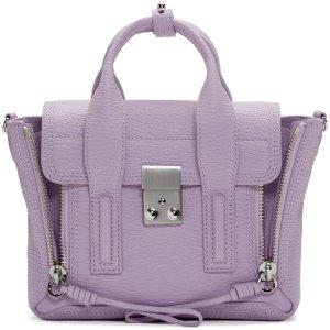 3.1 Phillip Lim: SSENSE Exclusive Purple Mini Pashli Satchel