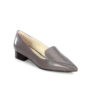 Cole Haan - Dellora Leather Skimmer Flats - saks.com