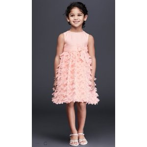 Flower Girl Dress with 3D Flowers on Skirt