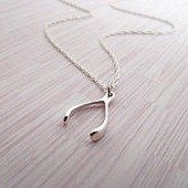 $10.51 Sterling Silver Wishbone Pendant Necklace