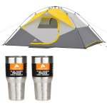 Ozark Trail 8' x 8' Instant Sun Shade with 2 30oz Tumblers Value Bundle