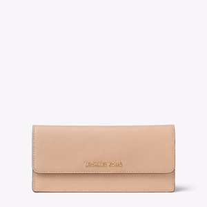 Jet Set Travel Slim Saffiano Leather Wallet