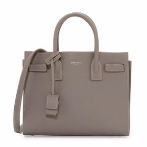 Sac de Jour Topstitched Leather Satchel Bag