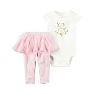 Carter's Newborn & Infant Girls' Bodysuit & Tutu Leggings - Miss Perfect - Sears