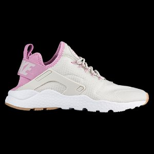 Nike Air Huarache Run Ultra - Women's - Running - Shoes - Pale Grey/Orchid/Gum Yellow/White