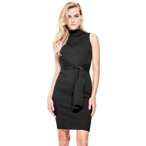 Emily Tie-Front Knit Dress at Guess