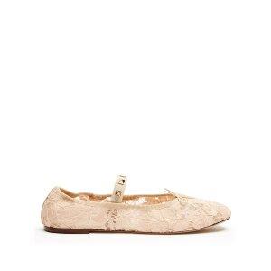 Rockstud lace ballet flats | Valentino | MATCHESFASHION.COM US