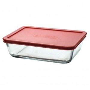 Anchor Hocking 11 Cup Kitchen Storage Rectangular w/ Red Lid