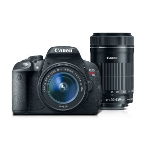 Canon EOS Rebel T5i EF-S 18-55 IS STM Kit with EF-S 55-250mm f/4-5.6 IS STM Refurbished | Canon Online Store