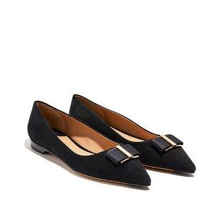 Ornament Bow Ballet Flat Shoes