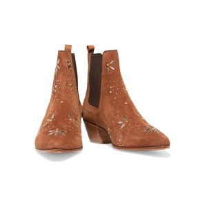 Studded suede ankle boots | Maje