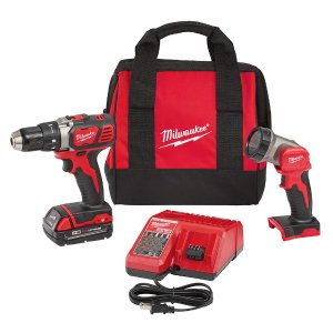 $89Milwaukee M18 18-Volt Lithium-Ion Cordless 1/2 in. Compact Drill/Worklight Kit (1-Battery)
