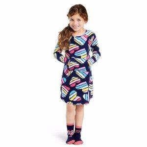 rainbow hearts night gown