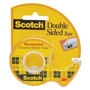 Scotch Double Sided Tape with Dispenser, 3/4 x 300 Inches (237) : Clear Tapes : Office Products