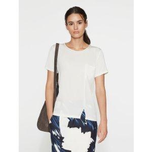 Silk Knit Combo Tee - Halston Heritage