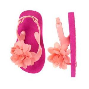 Toddler Girls Hot Pink Flower Flip Flops by Gymboree